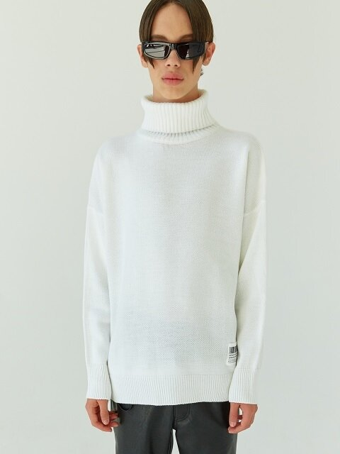 18FW 05 basic turtleneck knit (white)