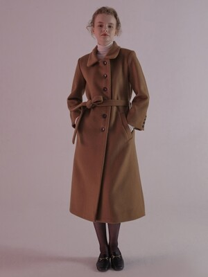 MGMG BUTTON LONG COAT_CAMEL