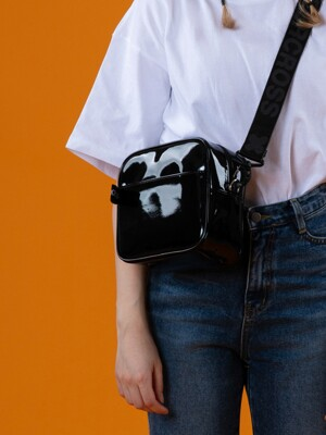 NEMO MINI CROSS BAG MONO ENAMEL BLACK