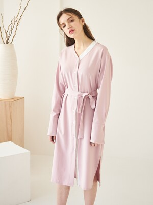 Y SHIRT ONE-PIECE PINK