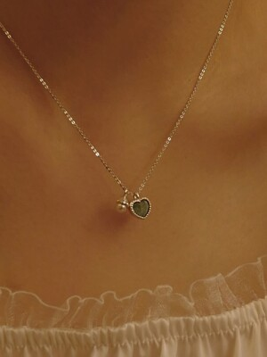 Alice Heart Pearl Necklace