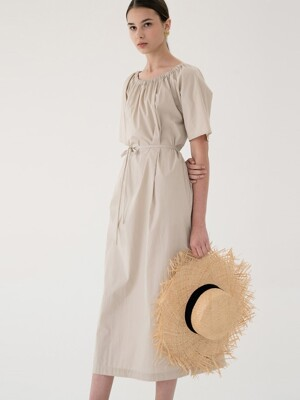 back string dress (beige)