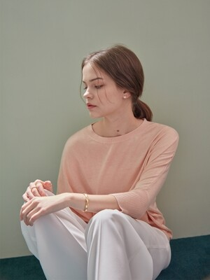 BASIC CASHMERE LOOSE PULLOVER (LIGHT PINK)