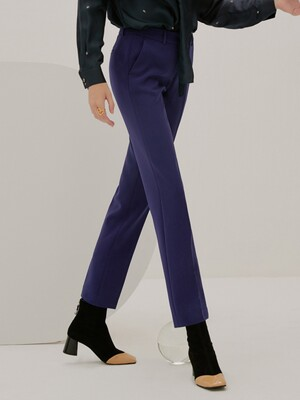 [Drama Signature] Slim Straight Trousers_DEEP BLUE
