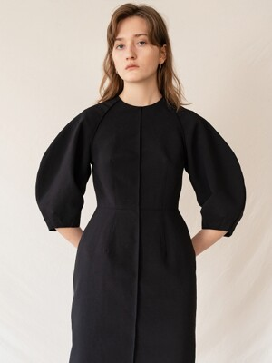 FW19 Cocoon sleeve dress black