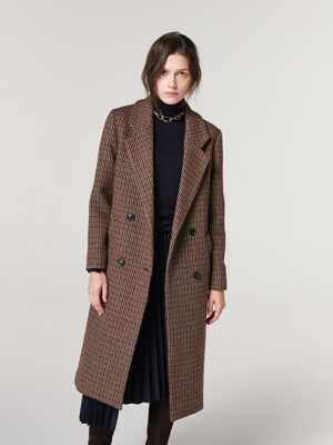 [단독] CHECK DOULE LONG COAT