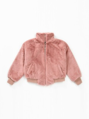 Clasic Fur Zip-Up Jacket (HOT PINK)