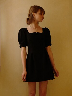 Rose Vine Dress Mini (Black)