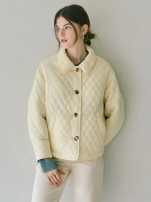 Quilting Short Jumper in Ivory