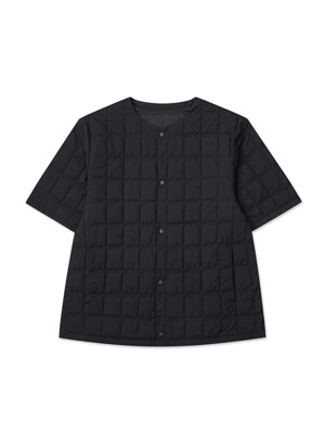 SQUARE QUILTED HALF JACKET(black)_HHJAW20512BLK