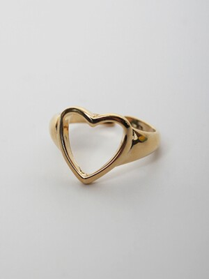 LU46 TOUxHAS Gold heart open ring