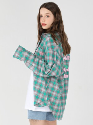 FWBA Check pattern shirts [Green]