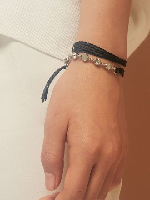 STLIGHT RIBBON BRACELET (black)