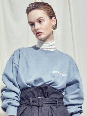 UNISEX OVERSIZE SIMPLE SWEATSHIRT (BLUE)