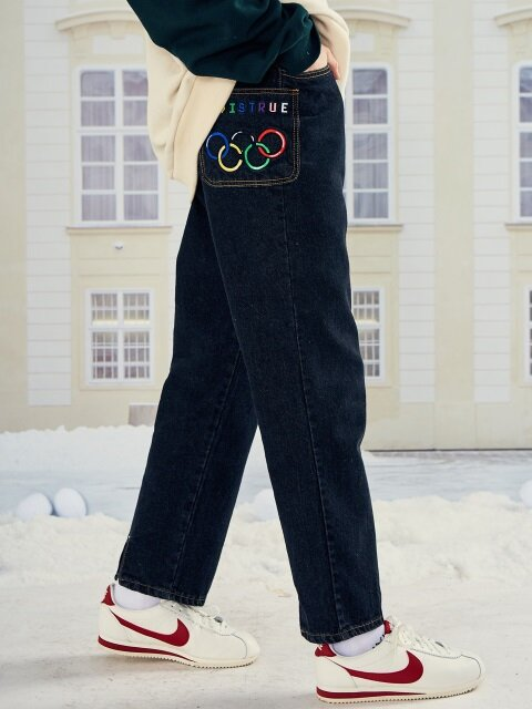 (UNISEX)LO OLYMPIC PANTS(BLACK)