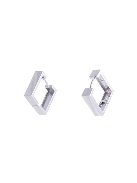 Silver Square Earring