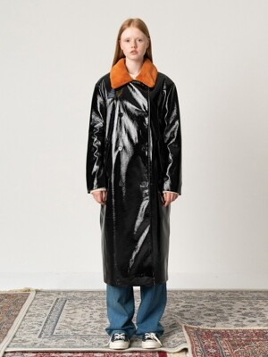R ECO FUR COLLAR LEATHER CT