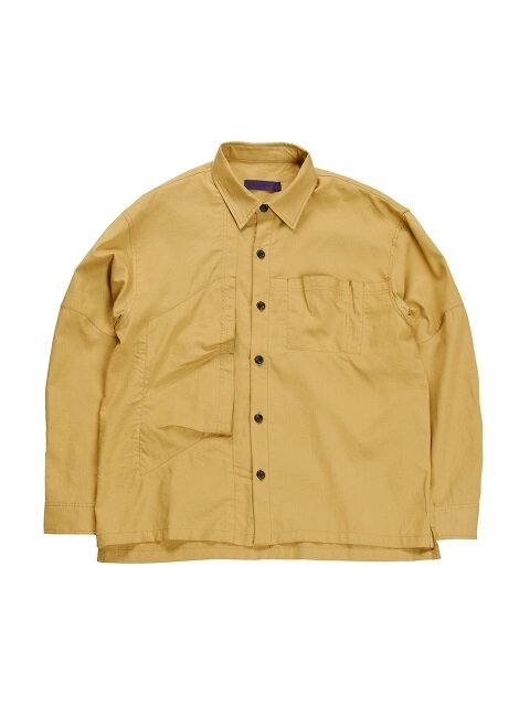 18FW VENTI UTILITY SHIRT YELLOW