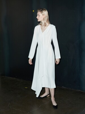 minimal long dress White