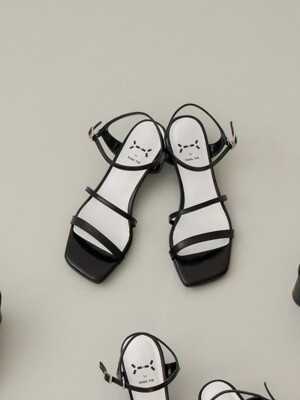 Meringue sandals 3cm / YY9S-S29 Metalic black