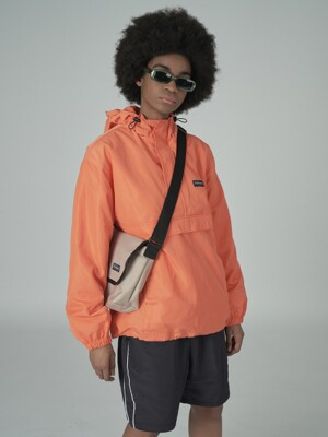 Cursive windbreaker-orange