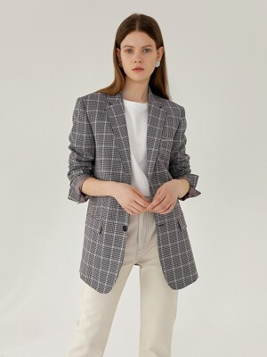 MOSS Classic Tailoring Slim-Fit Blazer(MULTI-CHECK)