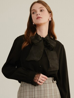 monts 978 nobang ribbon blouse (black)