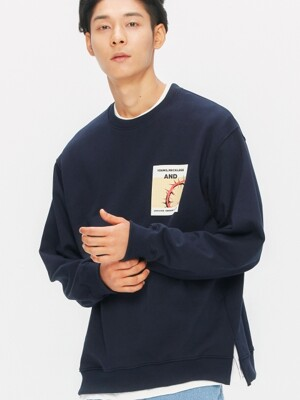 Round Spiny Sweat-Shirts (navy)