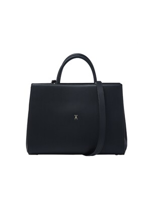 Lucky Pleats Tote L Rich Black