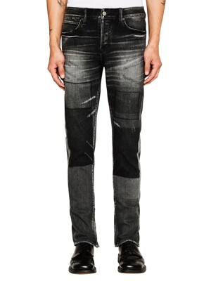 BEN SLIM GHOST BLACK MULTY BLOCK ZIPPER