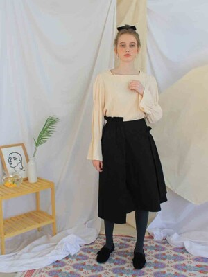 Callia shirring skirt