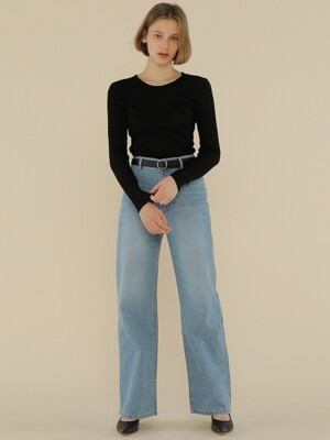 A LOOSE FIT DENIM PT_BLUE