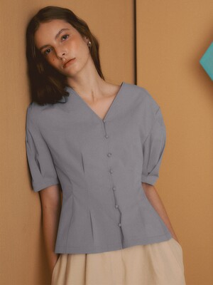 [Cotton Resort] Two-way Puff Sleeve Blouse