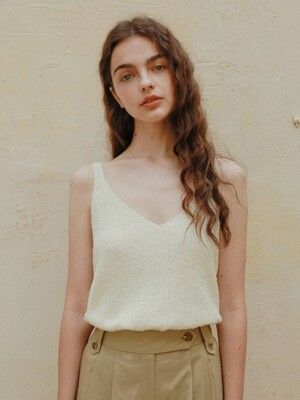 Rey Knit Sleeveless in Cream