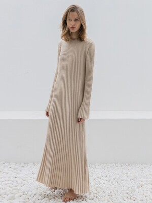 Wool Knit Maxi Dress_2colors