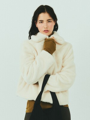 BENSIMON FUR JACKET - IVORY