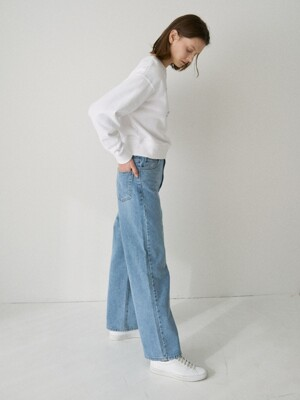 LM LONG STRAIGHT DENIM PANTS(LIGHT BLUE)