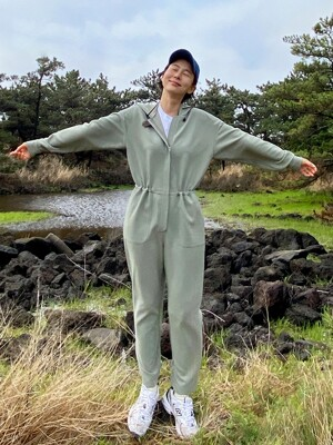 JOCHEON Hoodie jumpsuit (Light mint)