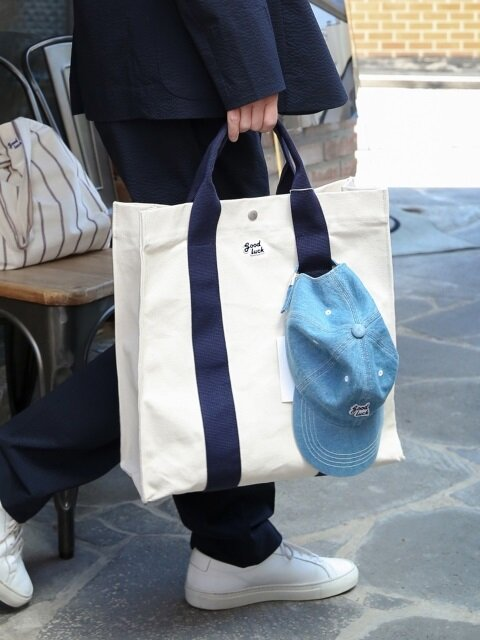 Big House Tote_Ecru/Navy