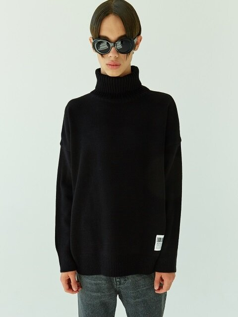 18FW 06 basic turtleneck knit (black)