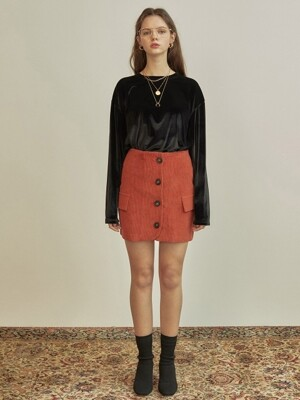 R CORDUROY MINI SKIRT_OR
