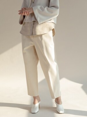 Cozy Straight Trouser Ivory/Black (TESPT09)