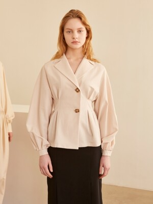 19SS COLLAR TWO BUTTON BLOUSE BEIGE
