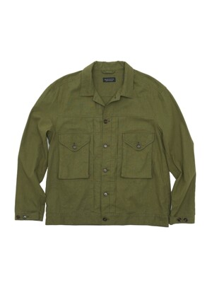 EASY TRUCKER SHIRT JACKET (GINGHAM OLIVE)