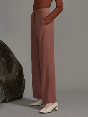classic pants (rose brown)