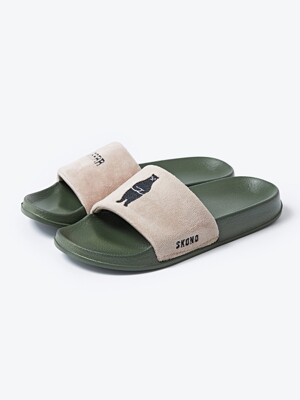 SLIDE WBSCD0018BE (BEIGE KHAKI) 슬리퍼 실내화