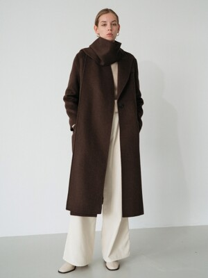 handmade muffler coat (brown)