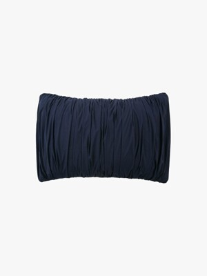 big waves pillow case - navy