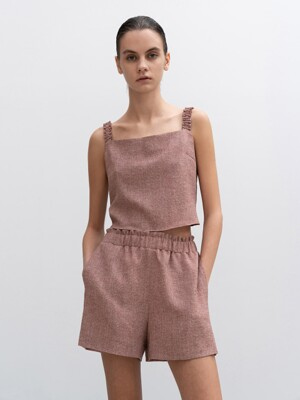 CO-ORD TIE FRONT TOP AND SHORT