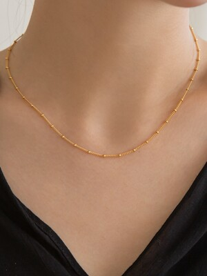 14k gf ball chain necklace (14k 골드필드)